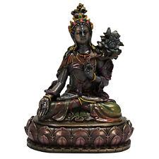 White Tara Statue - Cold Cast Resin - Buddhist Tibetan Goddess Icon Statuary