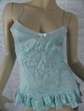 BARDOT mint green 100% silk camisole size 10 EUC