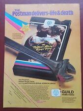 The Postman Always Rings Twice Pre-Cert Guild Home Video Magazine Advert #B1907