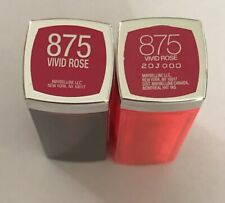 (2) Maybelline Color Sensational Lipstick, 875 Vivid Rose