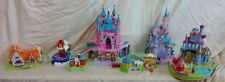 Disney vintage Polly Pocket castle lot, Snow White, Beauty Beast, Cinderella +++