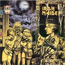 IRON MAIDEN Women in Uniform LP DiAnno DAVE MURRAY Steve Harris Autograph SIGNED