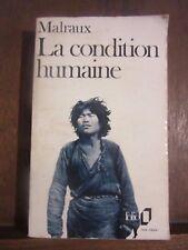 Folio/ Malraux: La condition humaine/ Gallimard 1946