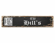 SP0478 The HILL'S Family name Plate Sign Bar Store Cafe Home Chic Decor Gift