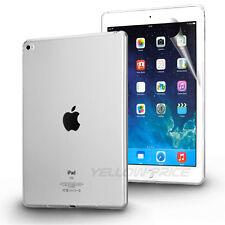 New Soft TPU Smooth Slim TPU Gel Case Cover +Films For Apple iPad Air 2 / iPad 6