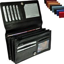 XXL Damen Geldbörse mit RFID-Schutz Rindleder Portemonnaie Geldbeutel Geldtasche