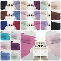 Plain Dyed Poly Cotton Soft Finish Flat Sheet Fitted Sheet Sheet Sets