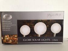 Kent Collection SL1156 Solar Garden Cracked Glass Effect Globe Independant