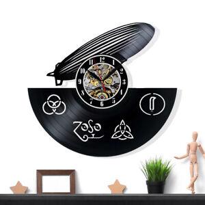 Led Zeppelin Vinyl Record Wall Clock Gift Surprise Ideas Friends Decor Wall Art