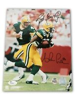 Brett Favre Ahman Green Dual Signed 8x10 Photo JSA COA Autograph Packers