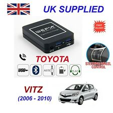 Music Streaming Bluetooth Telephone Toyota Vitz Charger 2xUSB AUX SD Module 6+6