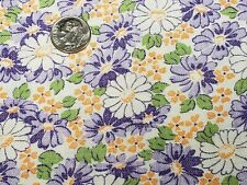 BEST Vintage Feedsack Quilt Fabric 40s Tiny Lavender Daisies  Flour Full Sack