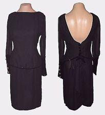 Dress, Vintage, V.C. Boutique, Evening Velour-Crape Lovely, 8