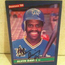 1986 Donruss Alvin Davis Auto Signed Card