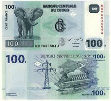 Congo billet NEUF de 100 FRANCS ELEPHANT des VIRUNGA Pick 2007