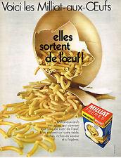 PUBLICITE  1970  MILLIAT FRERES macaronis pates