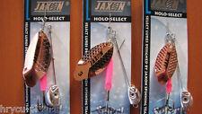 3 x JAXON SPINNER ESOX KUPFER 17g,14g,9g  HIT PREIS !