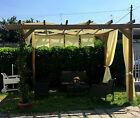 Pergola gazebo 3x3 in legno impregnato, copertura da esterni pompeiana tettoia