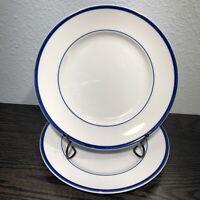 "Williams-Sonoma Brasserie Blue 9"" Luncheon / Salad Plates Set Of 2 Japan"