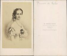 Princesse de Galles, Alexandra of Denmark, CDV vintage albumen.  Tirage albumi