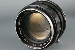 Minolta AUTO ROKKOR PF 58mm f/1.4 Manual Focus Lens SRT 101 303 100 X700 #201