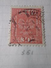 POLOGNE, 1928-29, timbre 361, ARMOIRIES, oblitéré, VF used stamp