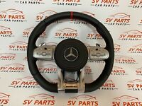 MERCEDES-BENZ W205 W213 W253 W222 STEERING WHEEL AMG SHIFT PADLES LEATHER