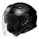 NEW Shoei J-Cruise II Open Face Motorcycle Helmet - Black from Moto Heaven