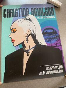 Christina Aguilera 18x24 tour poster 2021 Hollywood Bowl
