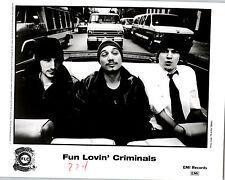 RARE Original Press Photo Fun Lovin' Criminals Huey Morgan 90's Rap Group