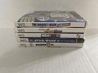 Lot Of 5 Nintendo Wii Games