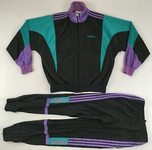 Adidas 1980s Challenger France vintage velour tracksuit jacket pants F168 D4