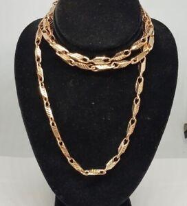 "GOLD chain bullet link real 10k ROSE 24.2g 3mm 30"" inch"