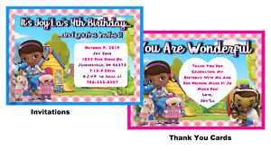 DOC MCSTUFFINS INVITATIONS or THANK YOU CARDS BIRTHDAY PARTY INVITES W/ENVELOPES