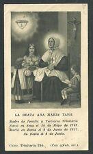 Estampa antigua de la Beata Ana Maria Taigi andachtsbild santino holy card