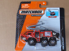 2014 Matchbox Real Working Rigs FIRE STALKER Red