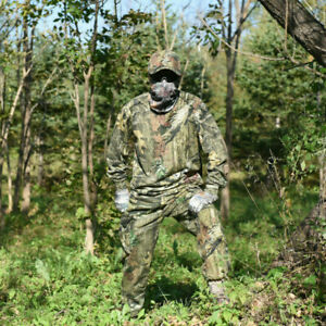 Spring Autumn Tactical Camouflage Hunting Clothes Ghillie Suit T-shirt Pants Cap