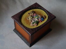 WOODEN TRINKET BOX .  TEDDIES DECOR