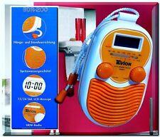 Tevion Radiowecker BDR200 Badradio LCD Wandradio Duschradio Uhr Orange -Weis