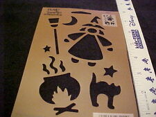 Halloween Stencil Cats Witch Broom by Simply Stencils  NEW and unused