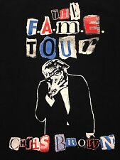 Chris Brown The Fame Tour 2-sided Black Medium T-shirt Concert Singer Pop R&B