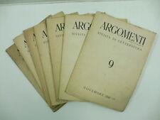 AA.VV., Argomenti. Rivista di letteratura diretta, 1941