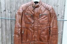 Belstaff Classic Weybridge Leather Men's Jacket in Cognac (IT 50/UK 40 or L)