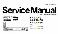 NATIONAL SA-XR30E SA-XR30EB SA-XR30EG AV CONTROL RECEIVER SERVICE MANUAL BOOK