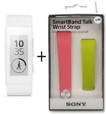 SONY SWR30 SmartBand Talk Lifelog Original White + SWR310 green pink set