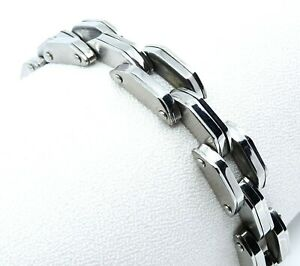 """Mens Stainless Steel Chunky Chain Bracelet Steampunk Style 8.5"""""""