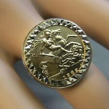 9 ct GOLD second hand half sovereign ring