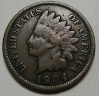 1904 Indian Head Cent in Average Circulated Condition    DUTCH AUCTION