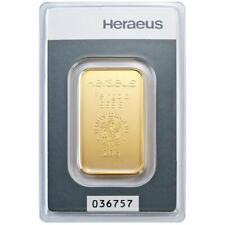 Heraeus - 20 Gramm Goldbarren - 999,9 Gold - in Blisterkarte - Neuware
