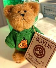Boyds Bear Halloween Pumpkin 567046 Nwt Thinkin Of Ya Bear 4 inches Nwt 2003